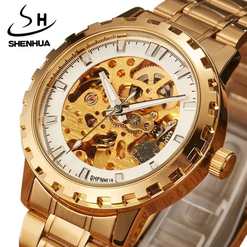 Mechanické hodinky pro muže Nejlepší značka Luxusní zlato Plně - Pánské hodinky