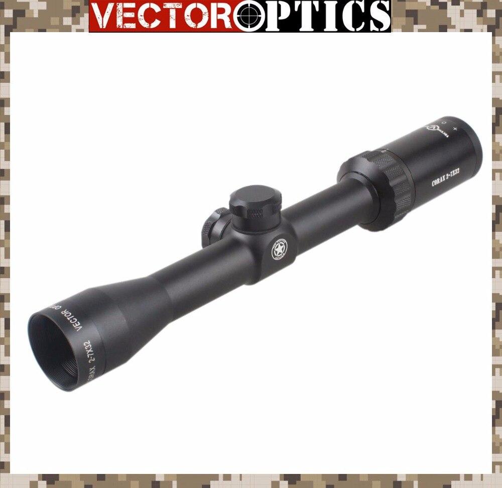 Vector Optics Corax 2-7x 32mm Hunting Riflescope 1 Inch Monotube Monocular with .308 BDC Reticle vector optics nova 3 5 10x42 ao objective focus hunting shooting riflescope 1 inch monotube with weaver or dovetail mount rings