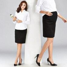 Элегантная юбка для беременных; сезон весна-лето; юбка-футляр с высокой талией для беременных женщин; официальная рабочая одежда; эластичные юбки-карандаш для офисных леди