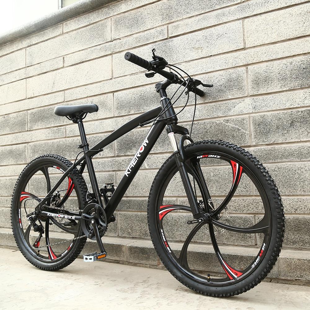 21 vitesse VTT 26-Pouces Haute-En Acier Au Carbone Double freins à disque Une Roue Vitesse Amortissement homme femme Étudiant Vélo
