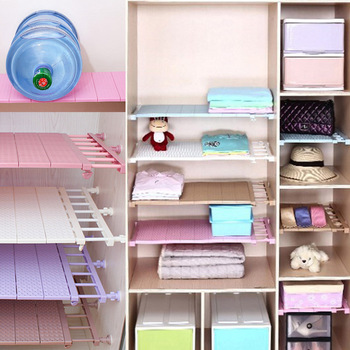75-120CM Adjustable Closet Organizer Wall Mounted Shelf Space Saving Wardrobe & Cabinet Storage Racks Bathroom Organizer Drawers shelf