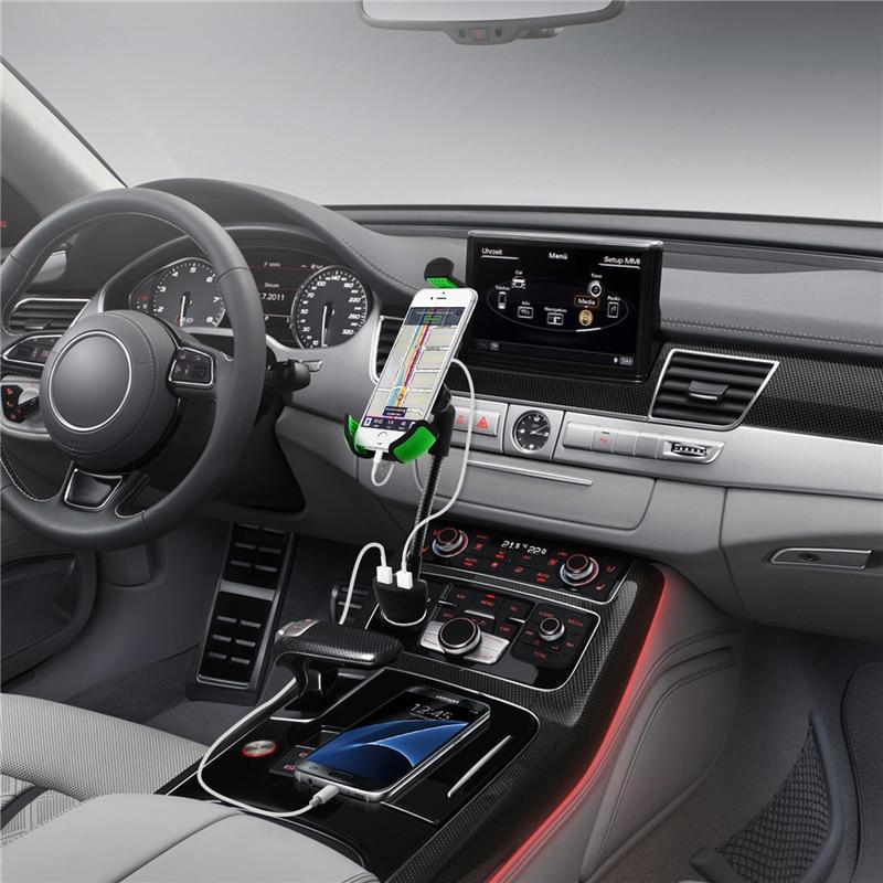 bilder für Universal 5 V 2.1A Usb-anschluss Ladegerät Einstellbare 360 Rotation Auto Stander halterung für iphone se 6 s 5 s samsung s6 s7 note 5