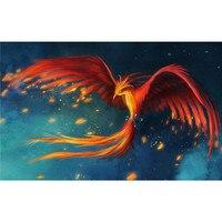 Phoenix ptak rysunki 5d diy diament malarstwo cross stitch aminal zdjęcia dżetów przędzy hafty płótno hobby rzemiosła