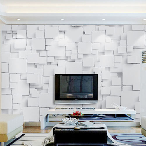 Wallpaper Mural Cubes Abstract 3D Wall Paper Non woven for Living ...