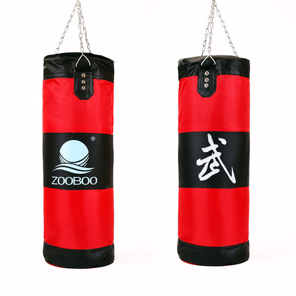 Nuevo 100 cm Entrenamiento Fitness MMA Boxing Bag Hook Hanging saco de boxe Kick Fight Bag Sand Punch Bolsa de arena