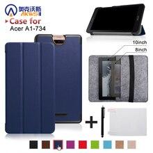 """Para nueva acer iconia hablar s a1-734 7 """"tablet slim stand cubierta de cuero de la pu case + bolso de la manga + de la pantalla protector + stylus"""