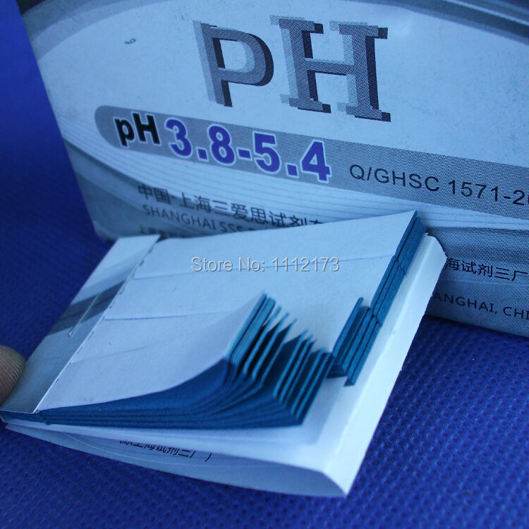(10 pieces/lot) Accuracy: PH 0.2-0.3, pH Range: 3.8-5.4,Accurate PH test paper,80 Strips short-range PH paper 3.8-5.4