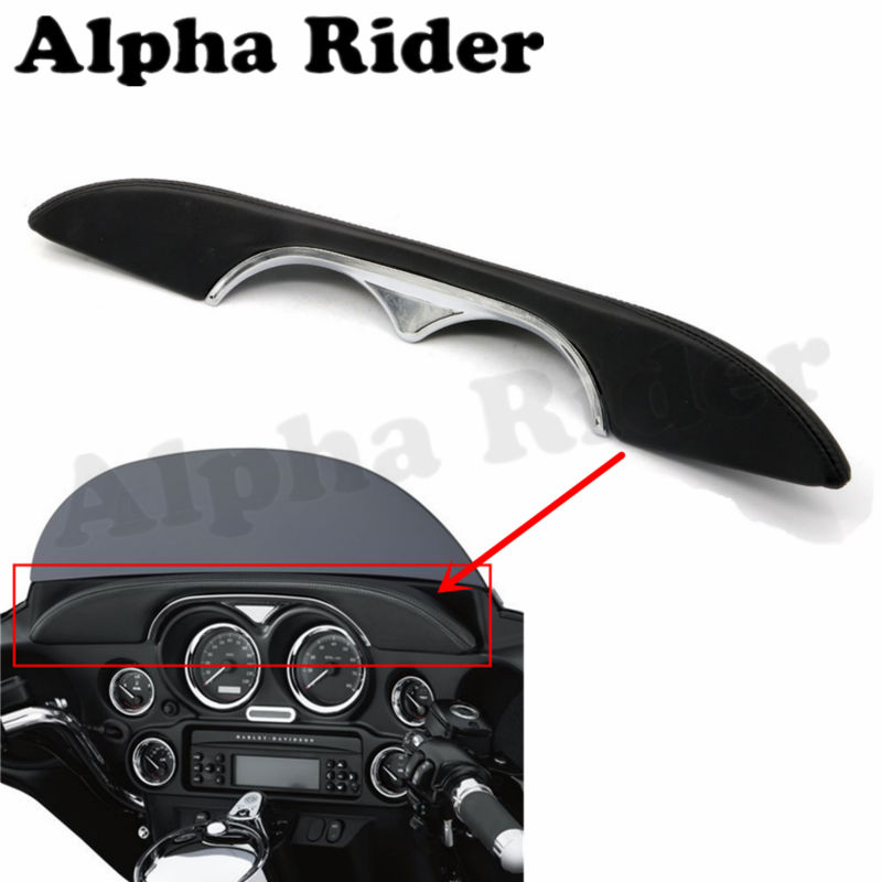 ФОТО Motorcycle Front Inner Accent Fairing Dash Pad Buffer Cushion for Harley Electra Glide Standard EFI FLHTI Ultra Limited FLHTK