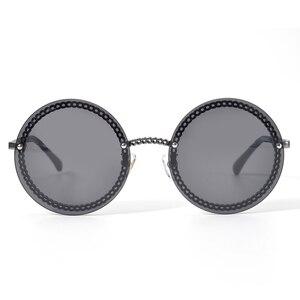 Image 2 - Fashion Women Rimless Sunglasse 2020Luxury Brand Designer Round Sunglasses Oculos De Sol Feminino with Original Packing Box