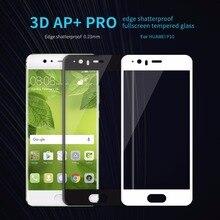 Pleine couverture en verre trempé huawei ascend p10 écran protecteur nillkin 3d ap + pro plein écran en verre film pour huawei ascend p10 plus