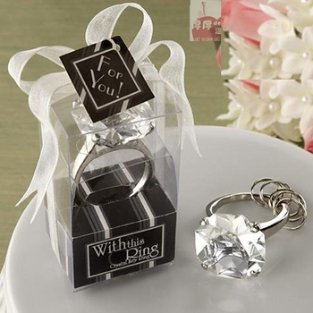 Free shipping, 100PCS/LOT With this ring KATE ASPEN wedding decoration of diamond keychain Wholesale and Retail wedding gift