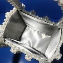 Vintage Handmade Pearl Luxury Small Handbag For Ladies