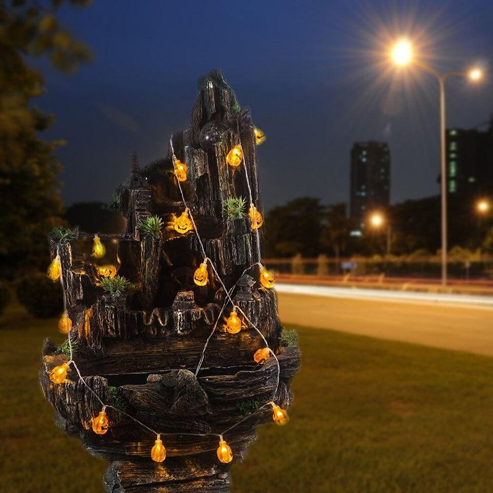 Тыквы на Хэллоуин свет Открытый Декор огни строки 10/20 светодиодный солнечный дворе вечерние освещения bettery питание лампы для украшения