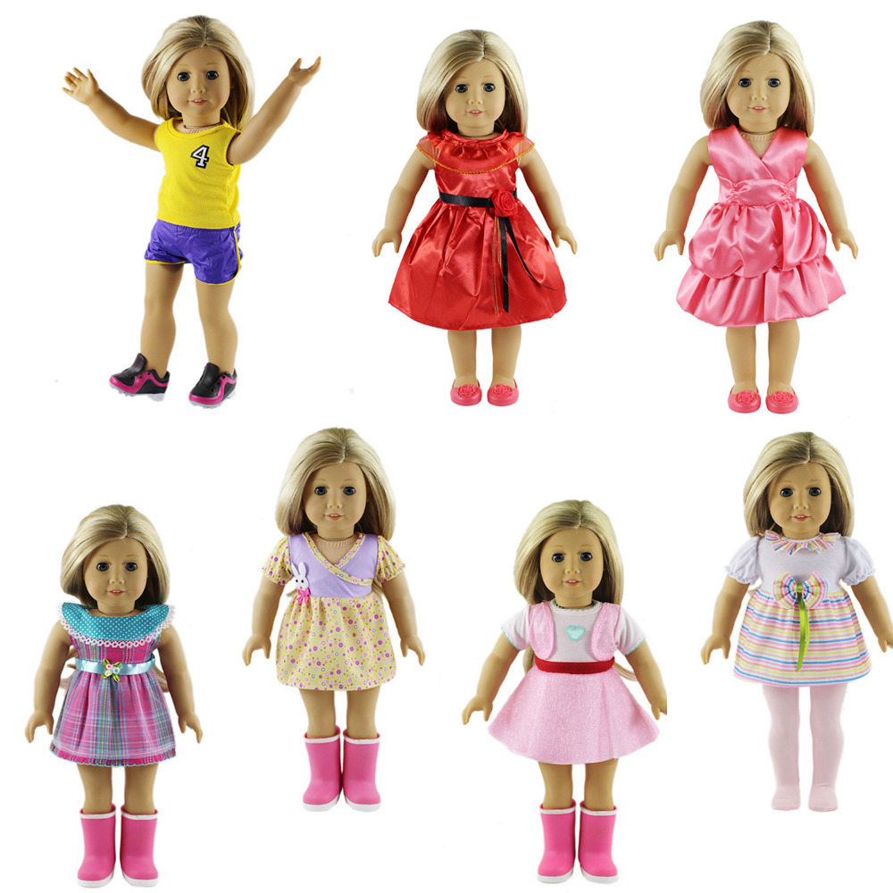 7pcs stylish package hip skirt suitable for 18 inch American girl doll accessories b706-b712