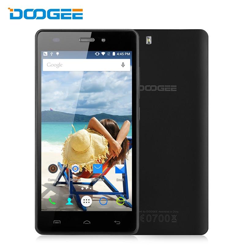 Цена за Original Doogee X5 Смартфон MTK6580 Quad Core 5.0 Дюймов HD Экран Android 5.1 Сотовый Телефон 1 ГБ RAM 8 ГБ ROM GSM и WCDMA Мобильного телефон