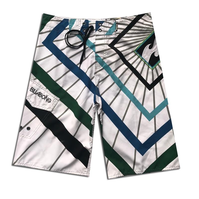 Marca Quick Dry Board Shorts Listrado Verão Homens de Surf de Praia Shorts de Banho Troncos Natação Desgaste Fantasma Boardshorts Spandex
