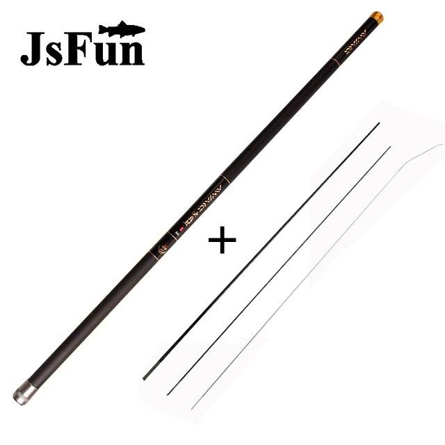 Carp Fishing Rod with Free Spare 3 Tips 8M 9M 10M 11M 12M 13M Carbon Fishing Pole Ultra-light Hand Telescopic Fishing Rod FG151