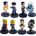 8 Pcs Japonês Animação artes Jogo Fullmetal Alchemist Winry Rockbell Action Figure PVC Modelo Dolls Crianças Brinquedos Para Coleção P253