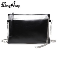 Soft Genuine Leather Women Clutch Bags Chain Shoulder Bag Real Cowhide Purse Organizer Evening Party Handbags