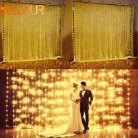 3X3M rideaux lumières Led chaîne lumières noël noël fée lumières en plein air maison pour mariage/fête/rideau/jardin Decora