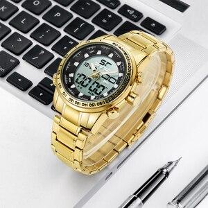 Image 5 - 2020 디지털 시계 남자 럭셔리 브랜드 MIZUMS 남자 스포츠 시계 방수 골드 스틸 쿼츠 남자 시계 군사 Relogio Masculino