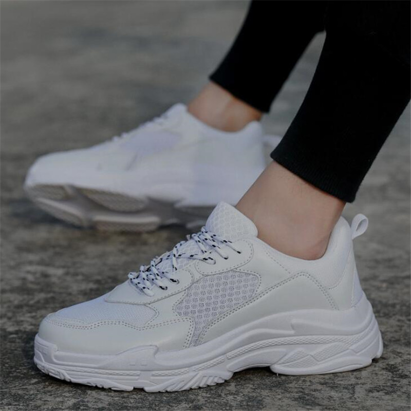 New 2018 Spring Fashion Women Casual Shoes Suede Leather Platform Shoes  Women Sneakers Ladies White Trainers c33560c6200d