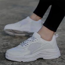 New 2018 Spring Fashion Women Casual Shoes Suede Leather Platform Shoes Women Sneakers Ladies White Trainers Chaussure Femme 44