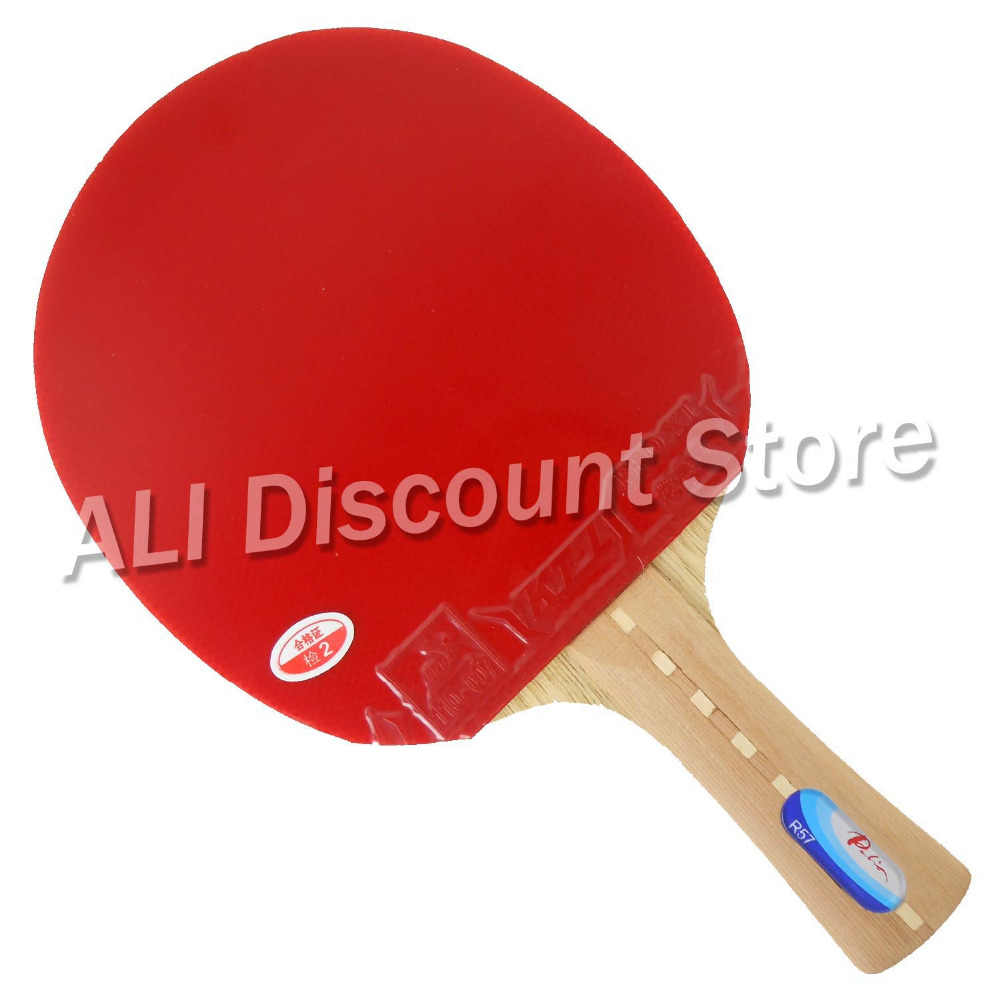 Palio R57 Blade with 2x KTL Pro XT Rubbers for a Table Tennis Racket
