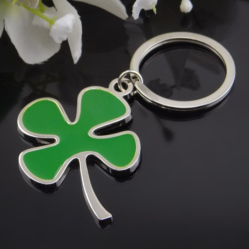 cute gift lucky clover 3d key chain for fiat abarth opel. Black Bedroom Furniture Sets. Home Design Ideas
