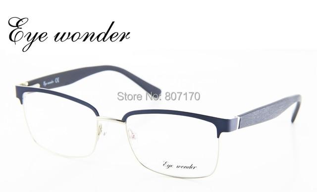 Maravilha Eye Vintage óculos homens Designer meia quadro quadrado Retro  óculos clássico Optical Eyewear Oculos de 702c782302