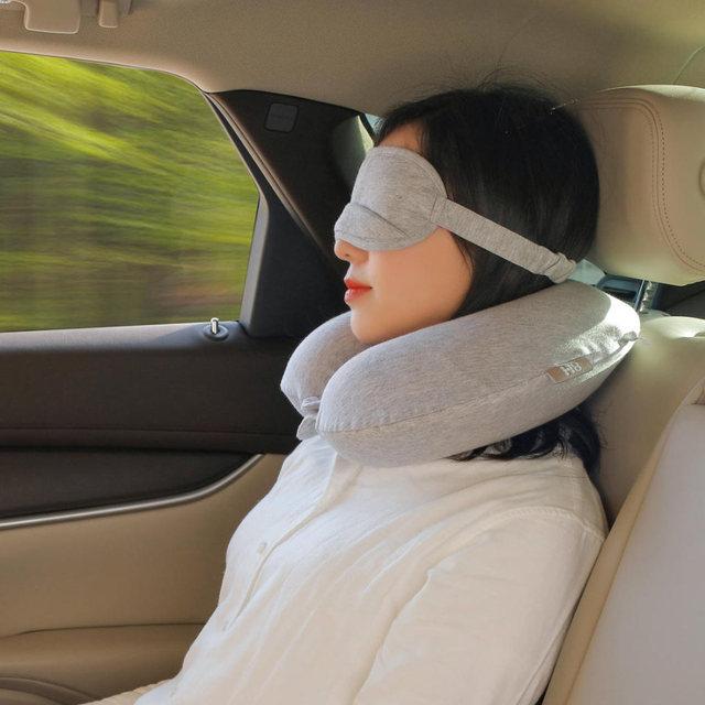 Original Xiaomi Mijia 8H U Shape Memory Foam Neck Pillow Antibacterial Portable Travel 8H Eyes Mask Cushion Lunch Break Pillows  2