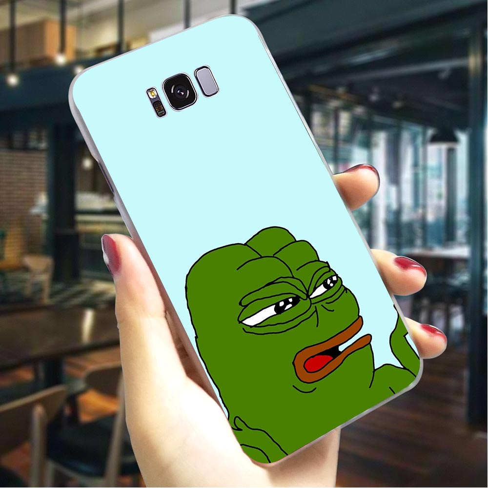 Frog meme pepe Hard Case for Samsung Galaxy A5 2015 Phone Cover for A6 2017 A7 2018 A8 Plus A9 A10 A20 A30 A40 A50 A70 A3 2016 image