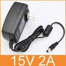 """50 יחידות באיכות גבוהה 15V2A AC 100 V 240 V ממיר DC מתאם 15 V 2A 2000mA ספק כוח ארה""""ב Plug 5.5 מ""""מ x 2.1 2.5 מ""""מ"""