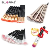 BLUEFRAG Buy 3 Get 1 Gift Makeup Brushes Set Powder Foundation Eyeshadow Eyeliner Lip Brush Pro