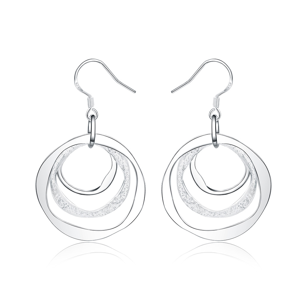 new factory wholesale LE008 fashion silver plated earrings high quality elegant cute women classic jewelry LAYD lovly gift