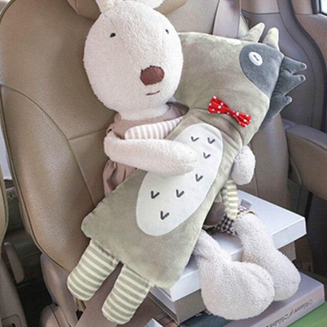 Baby Car Seat Belt Cover Cartoon Plush Kids Children Pillow Shoulder