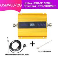 GSM Mobile Cellular Signal Repeater Amplifier 20dBm Cellphone Booster 2g Repetidor De Sinal Celular 900mhz phone signal booster