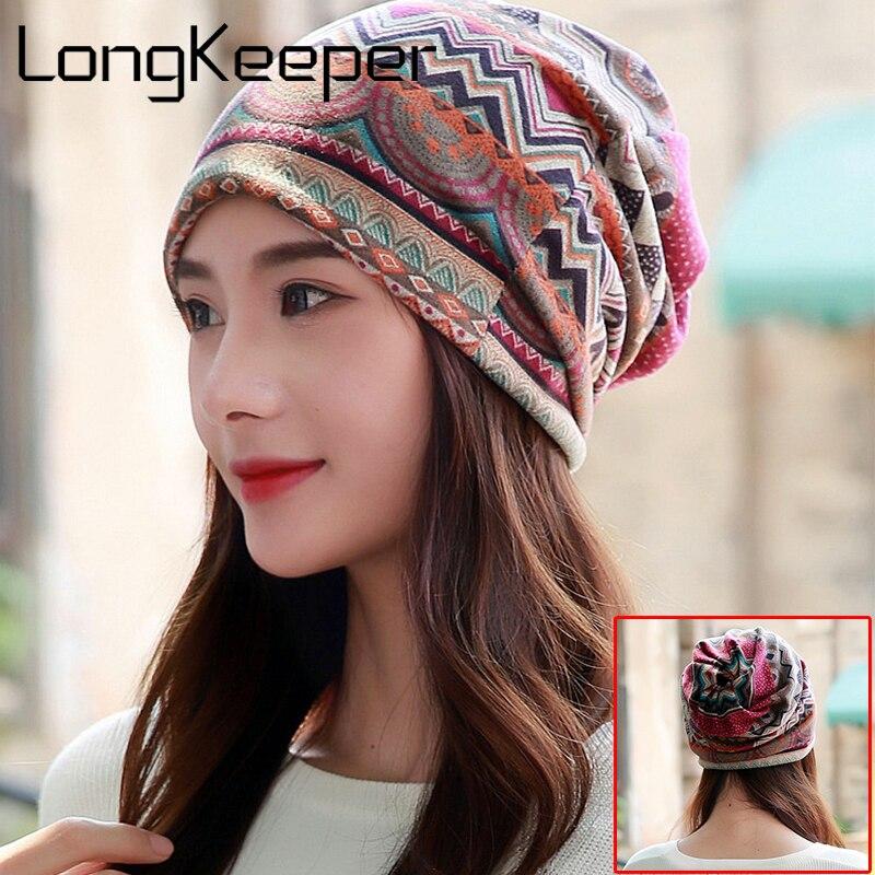 Long Keeper Female   Beanie   Bonnet Autumn And Winter Caps Hip-hop Cap Hats For Women   Beanies   Balaclava Men Beggars Hole Cap