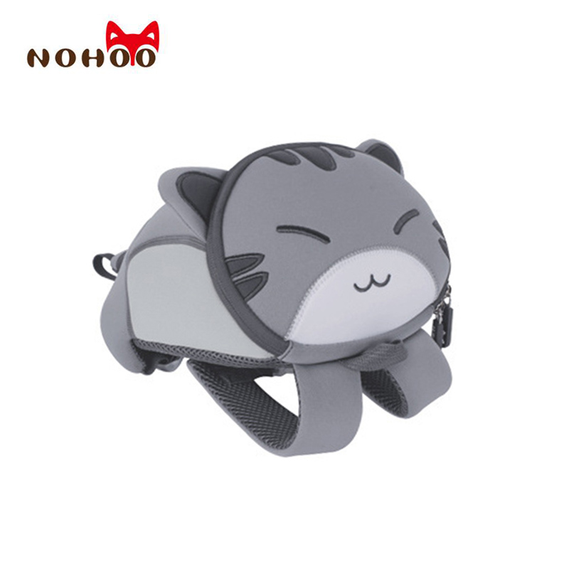 NOHOO Waterproof Cute Cats Animals Baby Backpack Kids Toddler School Bags for Girls Children School Bags Kids Kindergarten Bag nohoo toddler kids backpack 3d rocket space cartoon pre school bags children school backpacks kindergarten kids bags mochila