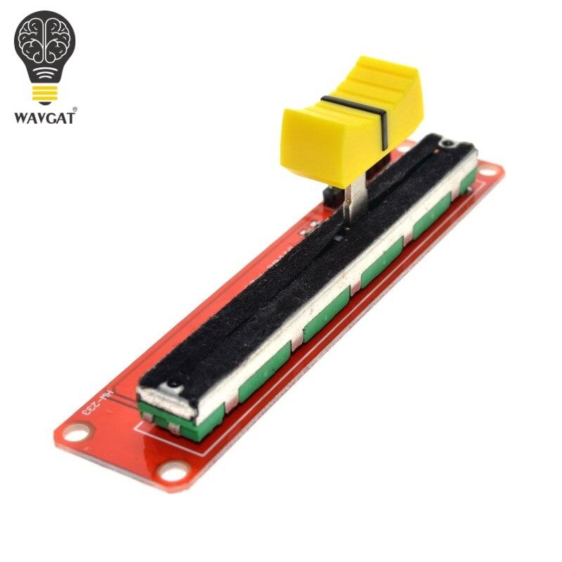 Potentiomètre à glissière WAVGAT Module linéaire 10K double sortie pour bloc électronique Arduino AVR