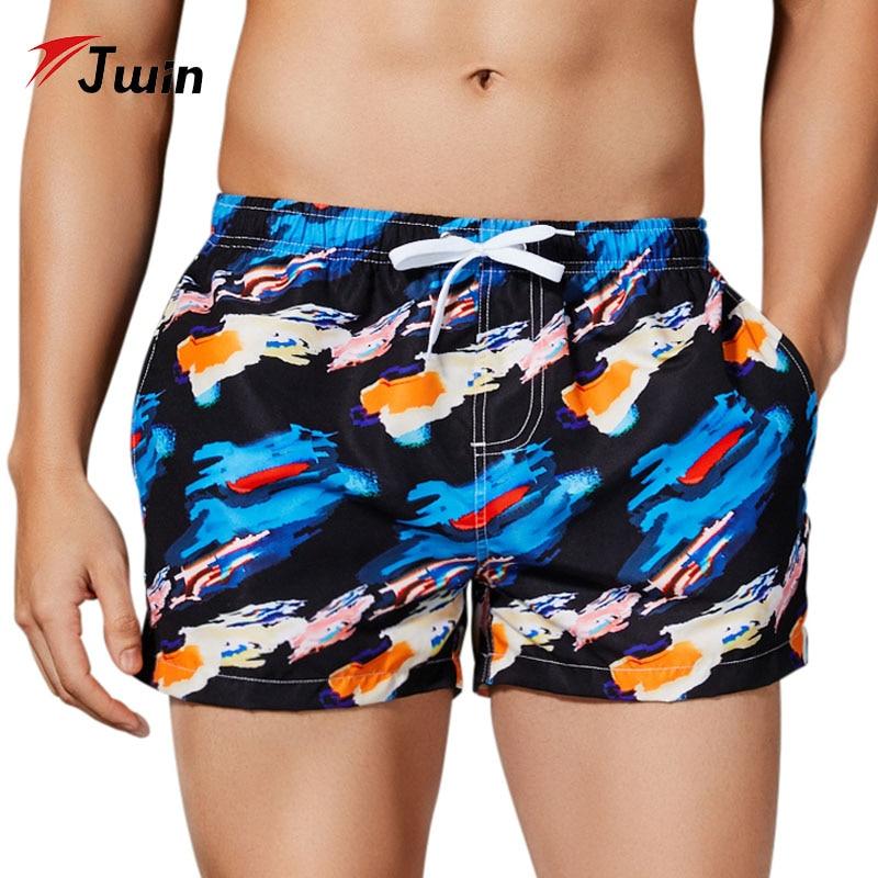 Men Swimwear Swimsuits Beach Board Shorts Boxer Trunks Short Bottom Quick Drying Gay Men Brief Short Sunga Beach Pants