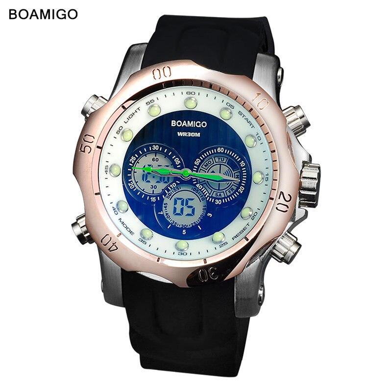 Mens Watches Top Brand Luxury Digital Sport Quartz Dual Display Watch Men Fashion Waterproof Designer Watch New Arrival 2019