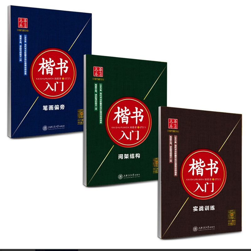 3Pcs/set Chinese Calligraphy Copybooks For Pen Basic Kaishu Stroke Radical And Structure Of Chinese Characters Exercise Books
