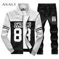 High Quality tracksuit 2017 sportswear Exercise Set polo suit Autumn winter men sweatshirt jogger pants set sudaderas hombre D28