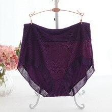 2018 New Arrival Women's briefs sexy lingeries Plus size 7XL large size Breathable Modal hollow underwears women panties
