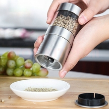 GZZT Stainless Steel Salt And Pepper Mill Munual Spice Mills Grinder Adjustable Ceramic Mills Kitchen Tools stainless steel electric pepper grinder spices mills easy salt spice herb mills grinder salt pepper mills cooking accessories