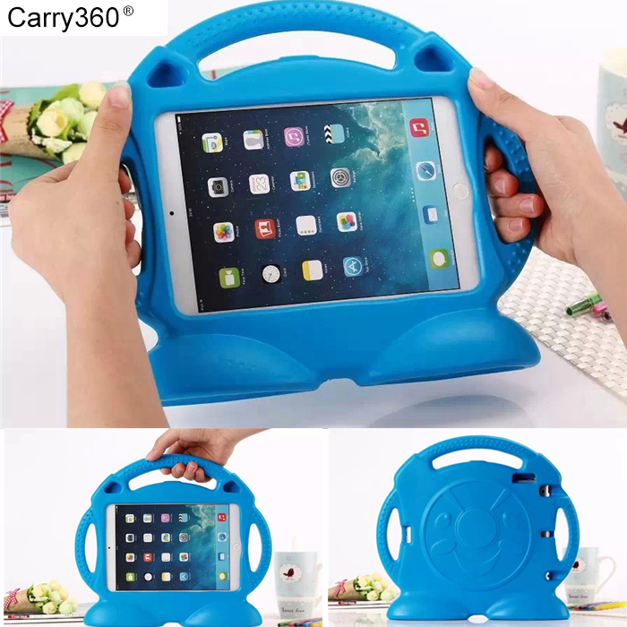Carry360 Case for Apple ipad Air /Air 2 / 5 / 6 Thomas handgrip stand Shock Proof EVA full body cover Kids Safe Silicone чехол для планшета for apple ipad air 2 ipad 6 360 apple ipad 2 ipad 6 ipa6 016