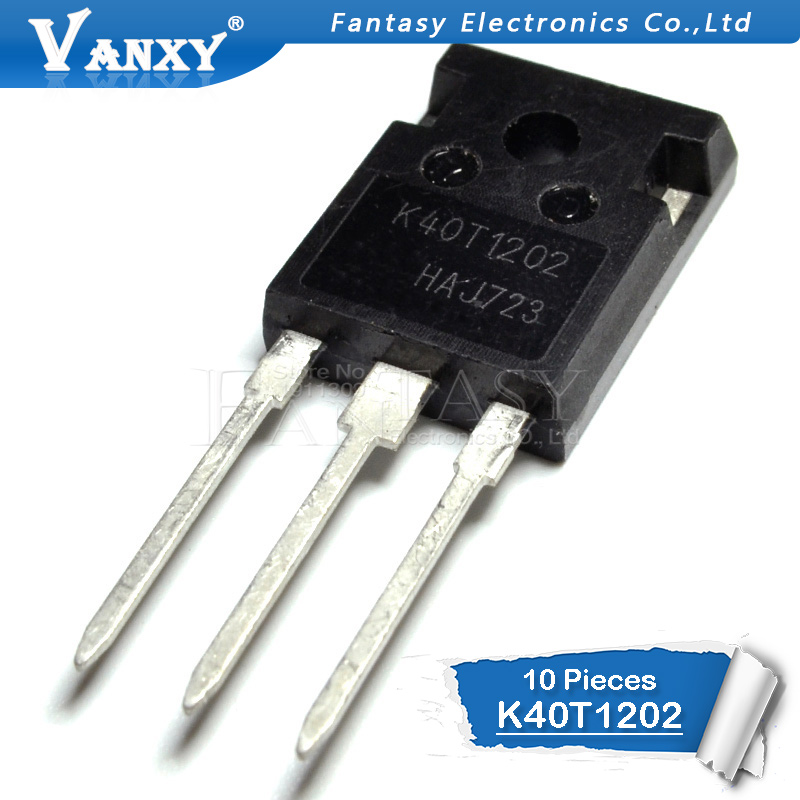10PCS IKW40N120T2 TO-247 K40T1202 TO247 IKW40N120 IGBT 40A 1200V 40T1202 New Original