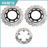 High Quality Motorcycle Full Set Front Rear Brake Discs Rotors For YAMAHA YZF R1 1000 2004