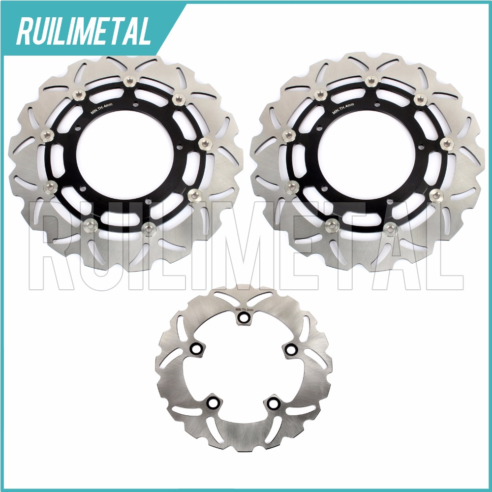 HOT Sale High Quality Motorcycle Full Set Front Rear Brake Discs Rotors For YAMAHA YZF R1 1000 2004 2005 2006 04 05 06